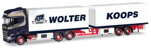 Herpa 308946 - Scania CS Reefer Trailer Wolter Koops