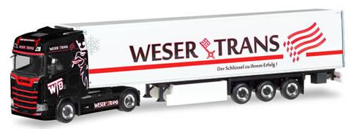 Herpa 309042 - Scania CS Reefer Semi Weser Trans