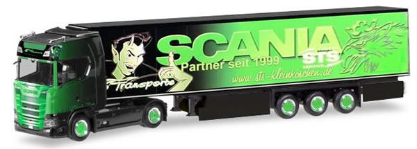 Herpa 309370 - Scania CS Reefer Semi GS Transporte