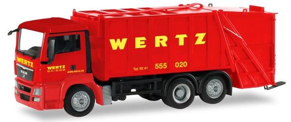 Herpa 309424 - MAN TGS Garbage Truck Wertz