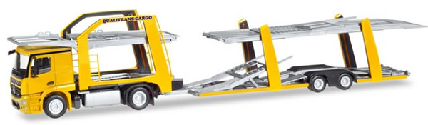 Herpa 309790 - Mercedes Actros Car Carrier Qualitrans Cargo