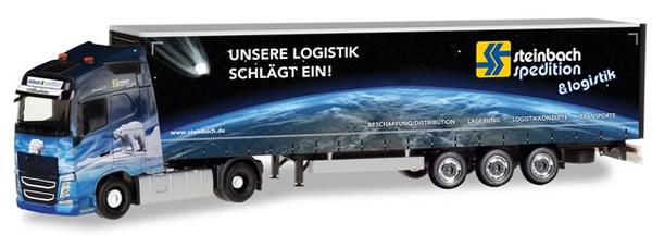 Herpa 309875 - Volvo FH GL Canvas Semi Steinbach Logistik
