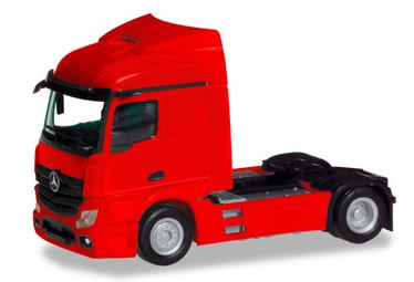 Herpa 309899 - Mercedes Actros Streamspace 2.3, 2 Axle Red