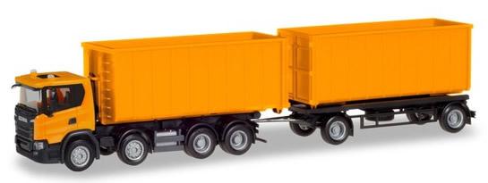 Herpa 309950 - Scania CG 17 8X4, Roll-Off T/T