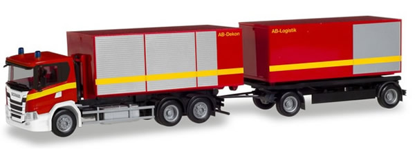 Herpa 310017 - Scania CG 17 Roll-Off T/T Fire Dept.