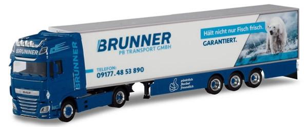 Herpa 310055 - DAF XF SSC Reefer Semi PB Transporte/Brunner