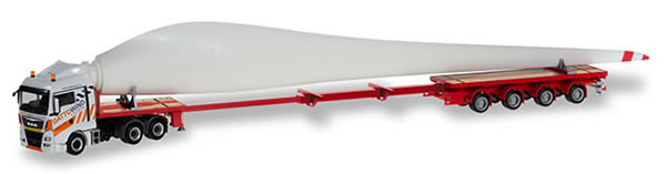 Herpa 310062 - MAN TGX Teletrailer W/Turbine Blade Gatto Wind