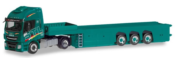 Herpa 310147 - Iveco Stralis Xp, Concrete Parts Trailer STL