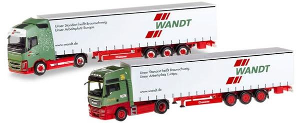 Herpa 310215 - Wandt Truck Set MAN Classis, Volvo Modern 80th An...