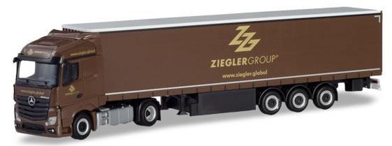 Herpa 310260 - Mercedes Actros Curtain Semi Ziegler Group