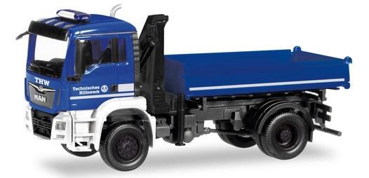 Herpa 310307 - MAN TGS 3-Way Dump, W/Hoist THW