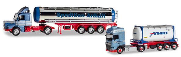 Herpa 310369 - 2 Truck Set, Anhalt Scania Classic, DAF Current 5...