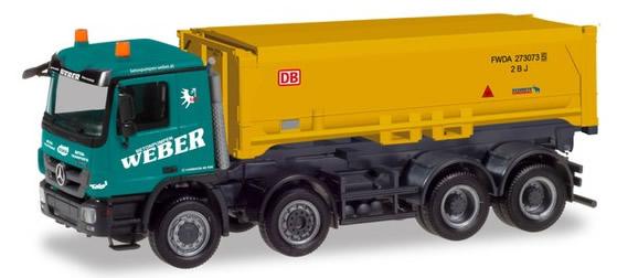 Herpa 310376 - Mercedes Actros M, Schmitz Covered Dump Truck Web...