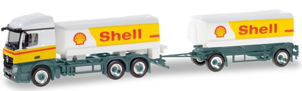 Herpa 310437 - Mercedes Actros T/T Tanker Shell