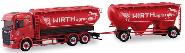 Herpa 310468 - Scania CR Bulk Silo Semi Wirth Agrar
