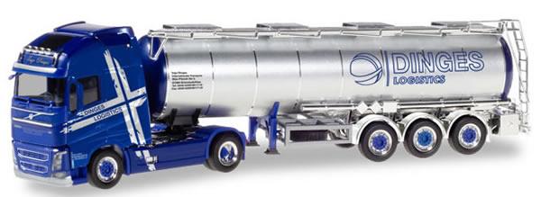 Herpa 310543 - Volvo FH Fuel Tanker Semi Ingo Dinges