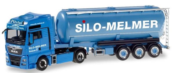 Herpa 310574 - MAN TGX Silo Semi Melmer