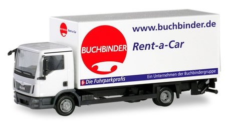 Herpa 310598 - MAN TGL Box Truck Buchbinder