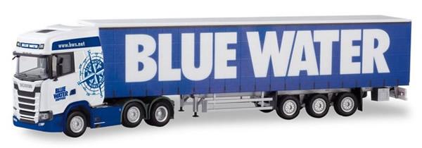 Herpa 310659 - Scania CS 20 Curtain Semi Blue Water