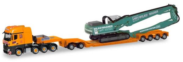Herpa 310895 - Mercedes Actros Slt, Pendel-X Heavy-Haul W/Excava...