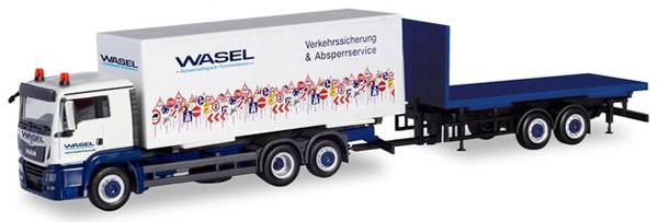 Herpa 310918 - MAN TGS Box Truck/Trailer Wasel