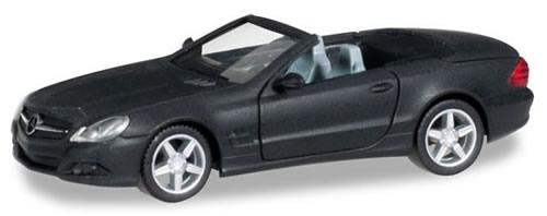 Herpa 38461 - Mercedes Sl, Black With Chrome Wheels