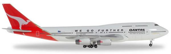 Herpa 500609 - Boeing 747-400, -001 25 Years Herpa Wings Qantas