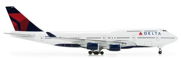 Herpa 506915 - Boeing 747-400 Delta Airlines