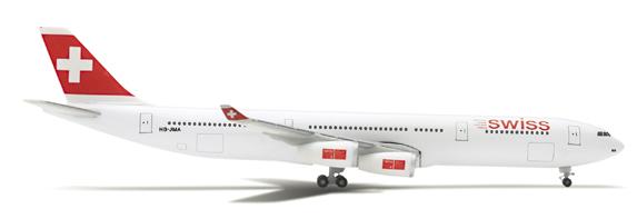 Herpa 507493 - Airbus 340-300 (41.95) Swiss Air Lines