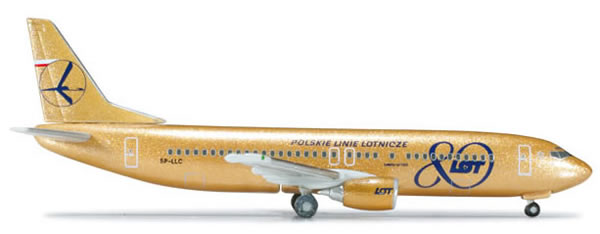 Herpa 517706 - Boeing 737-400 (29.50) LOT - 80th Anniversary