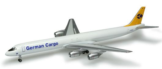 Herpa 518673 - DC-8-73 F Extra Shop German Cargo
