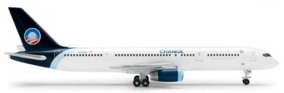 Herpa 518680 - Boeing 757-200 Extra Shop North American, Obama 2...