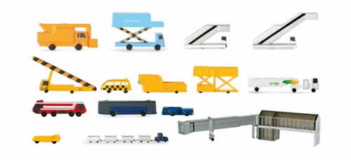 Herpa 519472 - Various Support Vehicles And Pass. Bridges