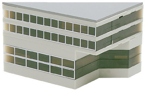 Herpa 519632 - Airport Building - Wing, Low