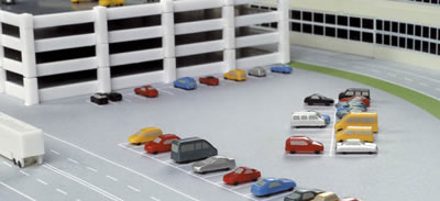 Herpa 519892 - Airport Accessories # 10 Cars W/Prints