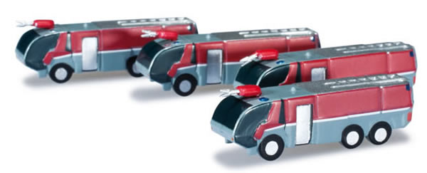 Herpa 520867 - Airport Accessories, Fire Engines (4 PCS) Extra S...