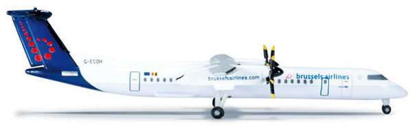Herpa 523301 - Bombardier Q400 (30.50) Brussels Airlines