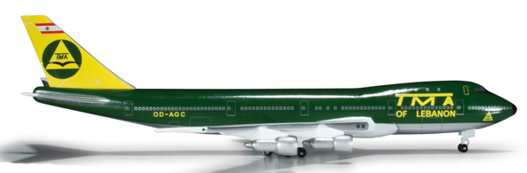 Herpa 524353 - Boeing 747-100 SF Extra Shop Trans Mediterranian