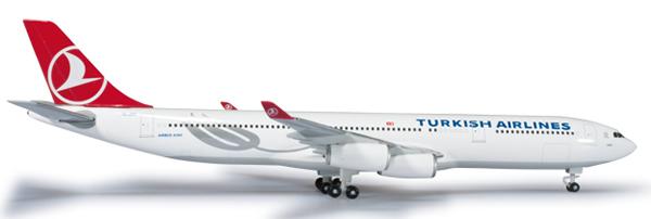 Herpa 524360 - Airbus 340-300 (46.95) Turkish Airlines