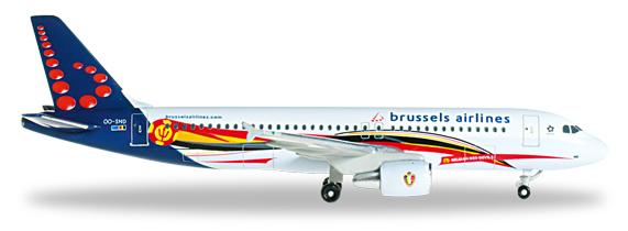 Herpa 526371 - Airbus 320 Brussels Airlines - Red Devils