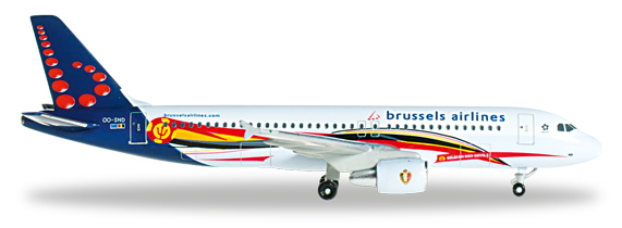 Herpa 526371 - Airbus 320 Brussels Airlines - Red Devils