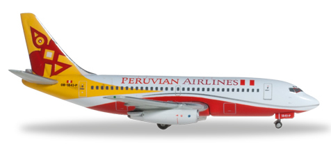 Herpa 526906 - Boeing 737-200 Extra Shop Peruvian Airlines