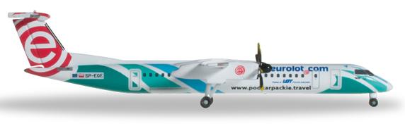 Herpa 527088 - Bombardier Q400 Euro LOT