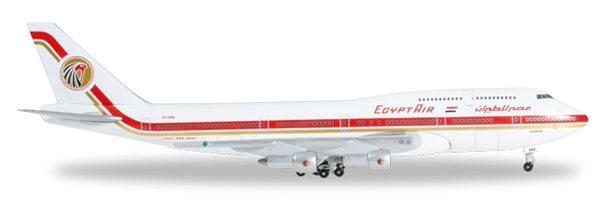 Herpa 527200 - Boeing 747-300m Extra Shop Egypt Air, Cleopatra