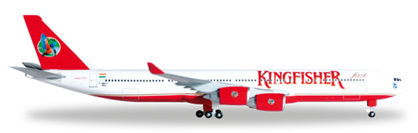 Herpa 527217 - Airbus 340-500 Extra Shop Kingfisher Airlines