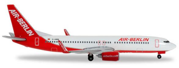 Herpa 527224 - Boeing 737-800 Extra Shop Air Berlin, Interim Liv...