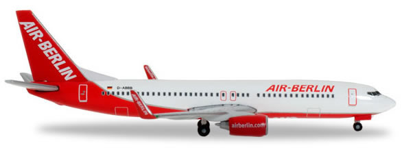 Herpa 527224 - Boeing 737-800 Extra Shop Air Berlin, Interim Liv...
