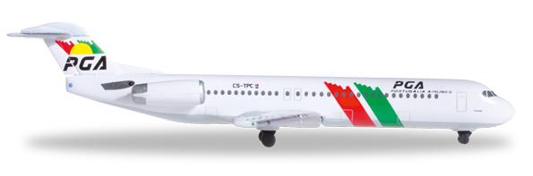 Herpa 527309 - Fokker 100 (33.50) Pga Portualia