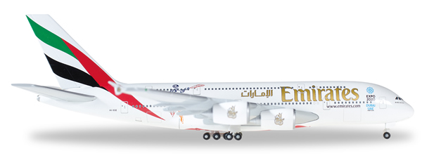 Herpa 527897 - Airbus 380 Emirates - Cricket World Cup 2015