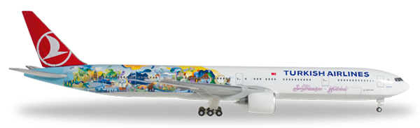 Herpa 528290 - Boeing 777-300er Turkish Airlines - Istanbul - Sa...